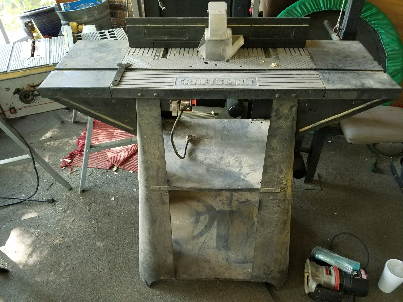 Old craftsman router table needs insert plate find greentooth Image collections